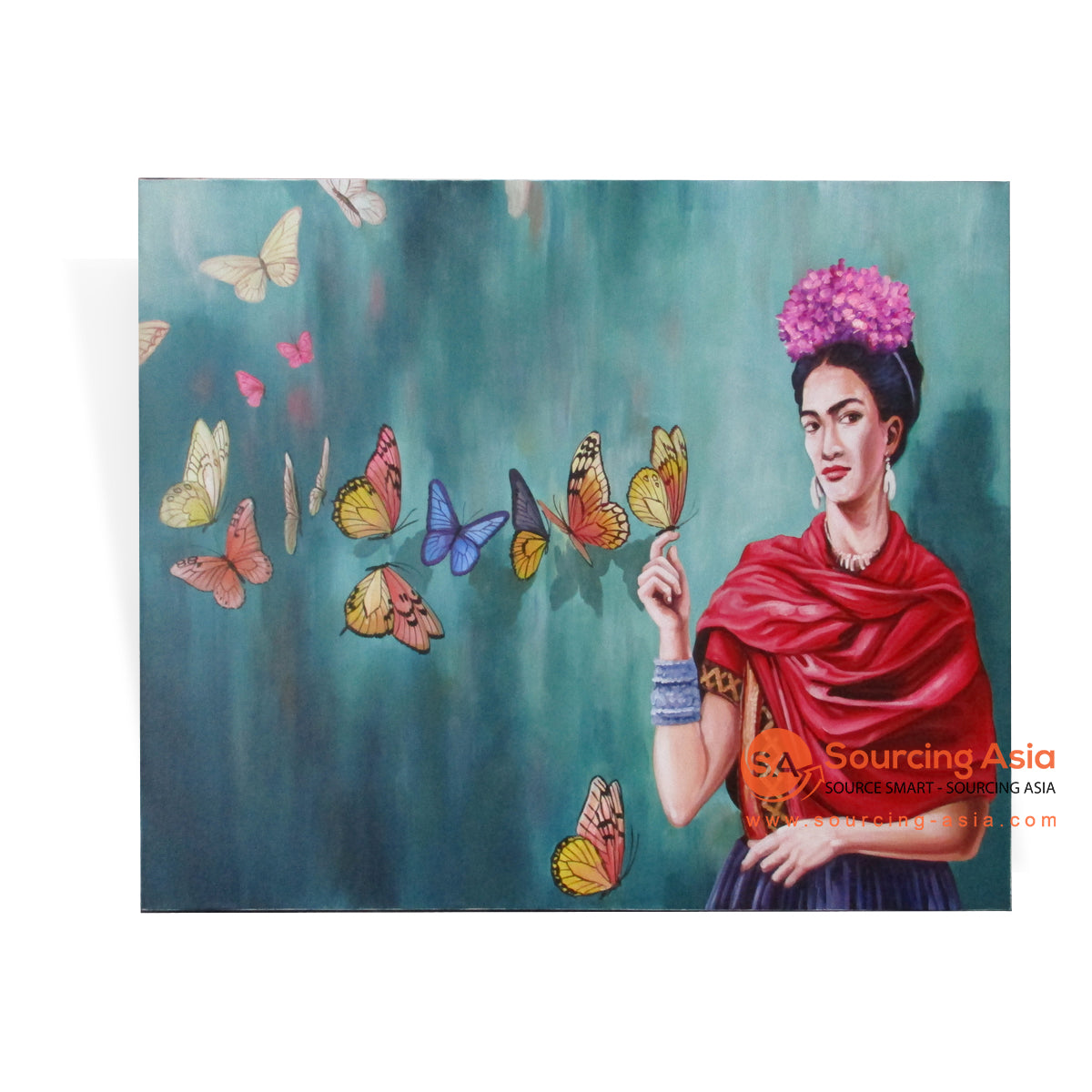 MYS090 BUTTERFLIES AND FRIDA PAINTING