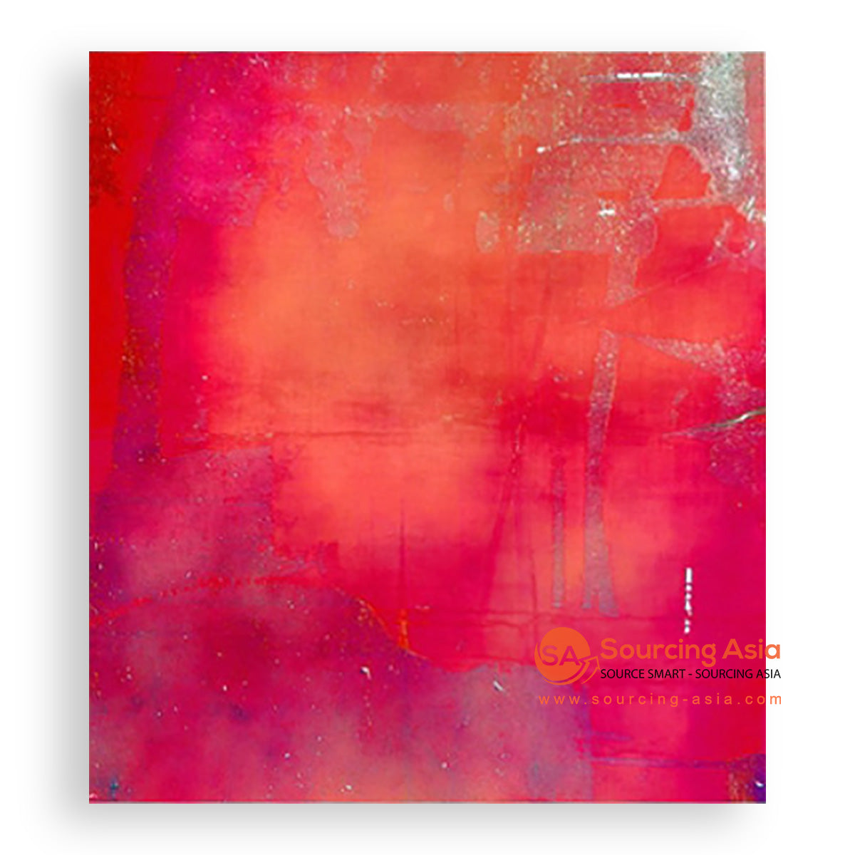 MYS126 RED CONTEMPORARY PAINTING