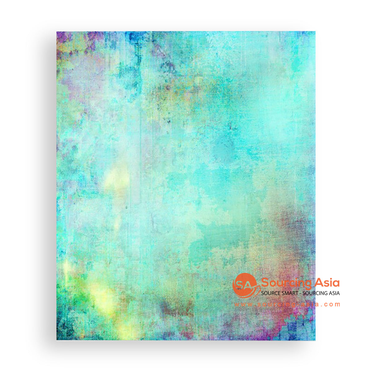 MYS128 ABSTRACT TURQUOISE PAINTING