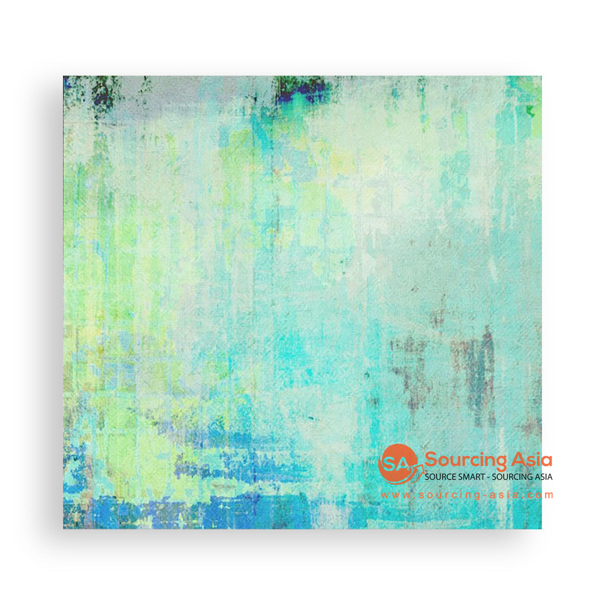MYS129 ABSTRACT TURQUOISE PAINTING