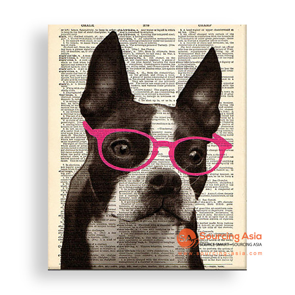 MYS164 TRENDY DOG PAINTING