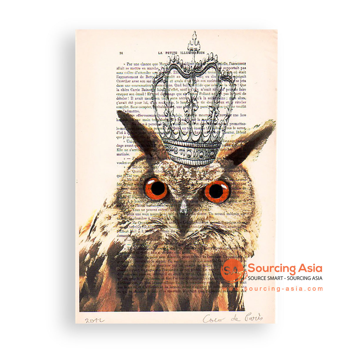 MYS170 OWL KING PAINTING