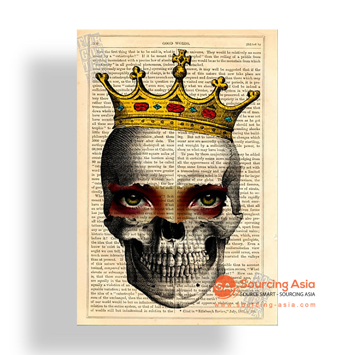 MYS173 SKULL AND CROWN PAINTING