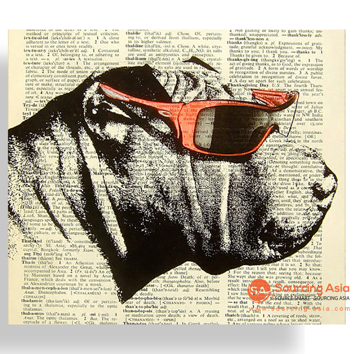 MYS179 TRENDY BULLDOG PAINTING