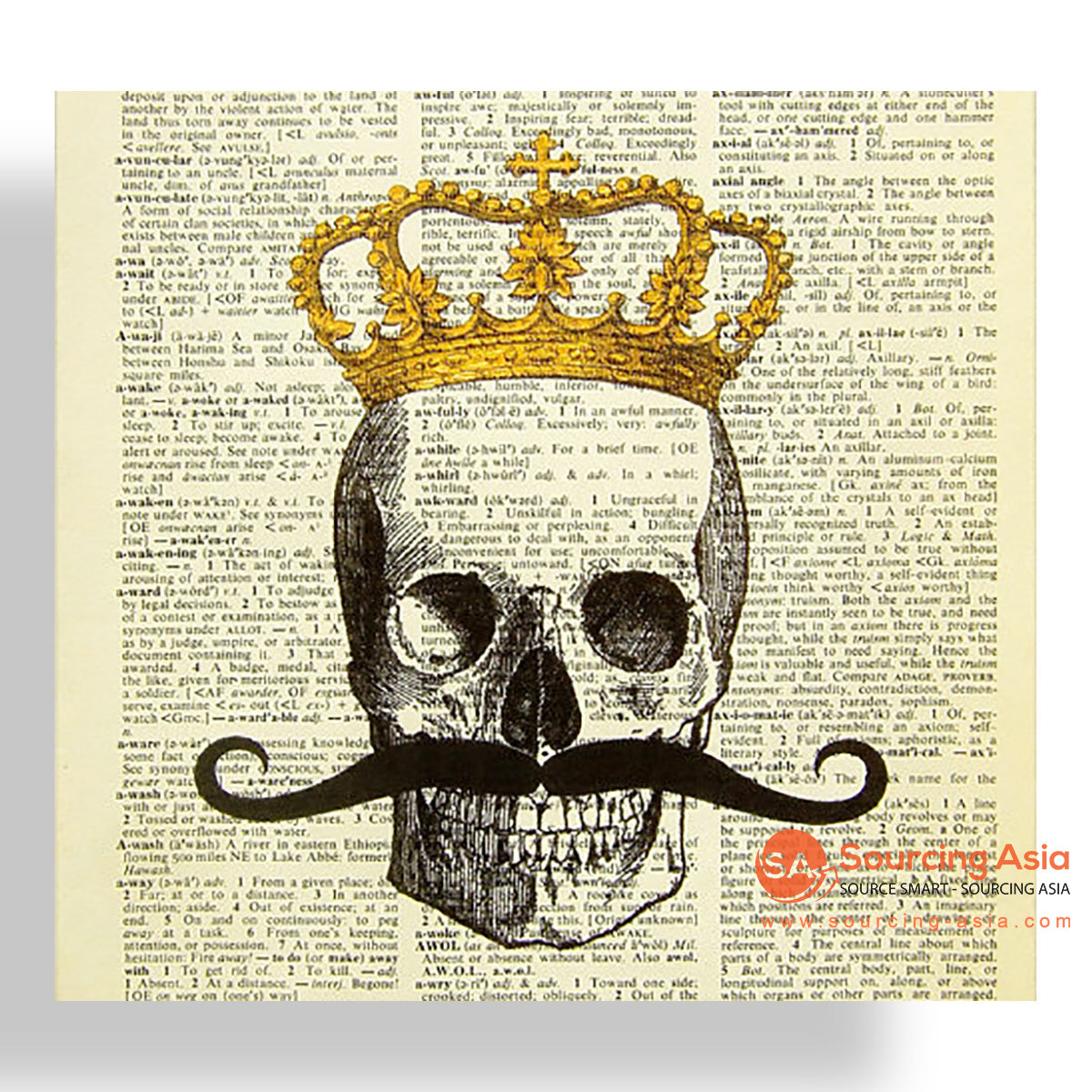 MYS180 SKULL AND CROWN PAINTING