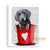 MYS188 DOG IN RED BASKET PAINTING