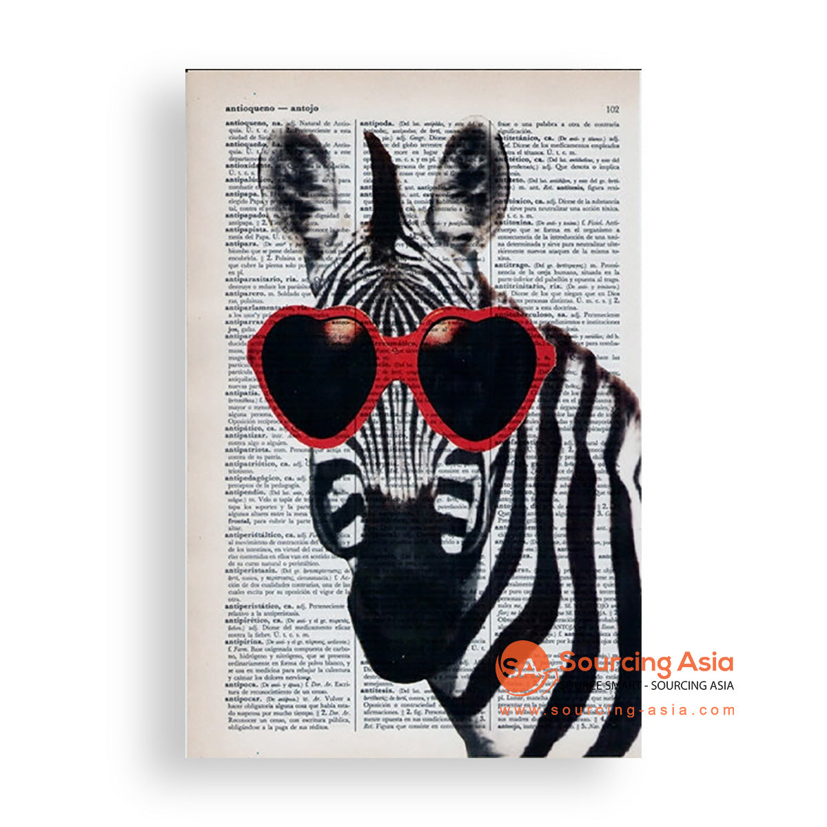 MYS192 TRENDY ZEBRA PAINTING