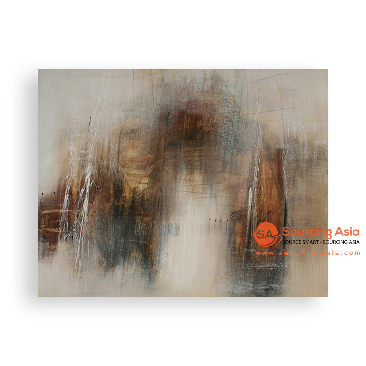 MYS211 ABSTRACT WOOD PAINTING