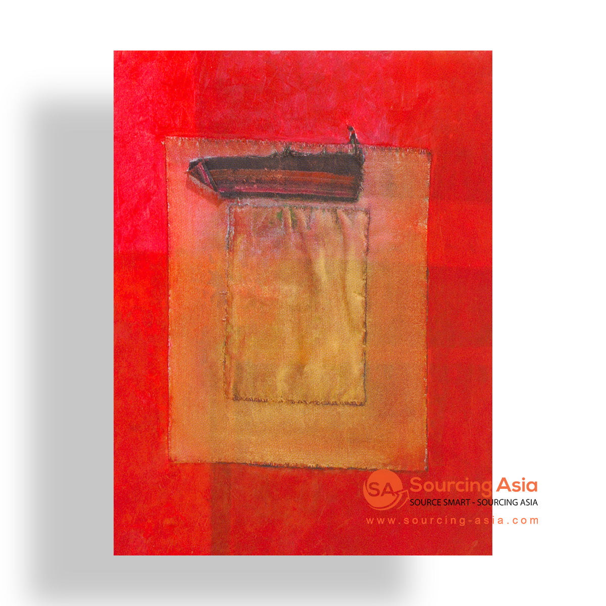 MYS229 ABSTRACT RED PAINTING