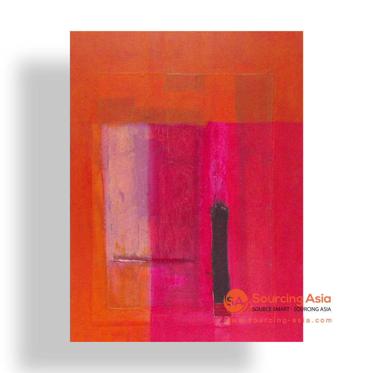 MYS231 ABSTRACT RED PAINTING