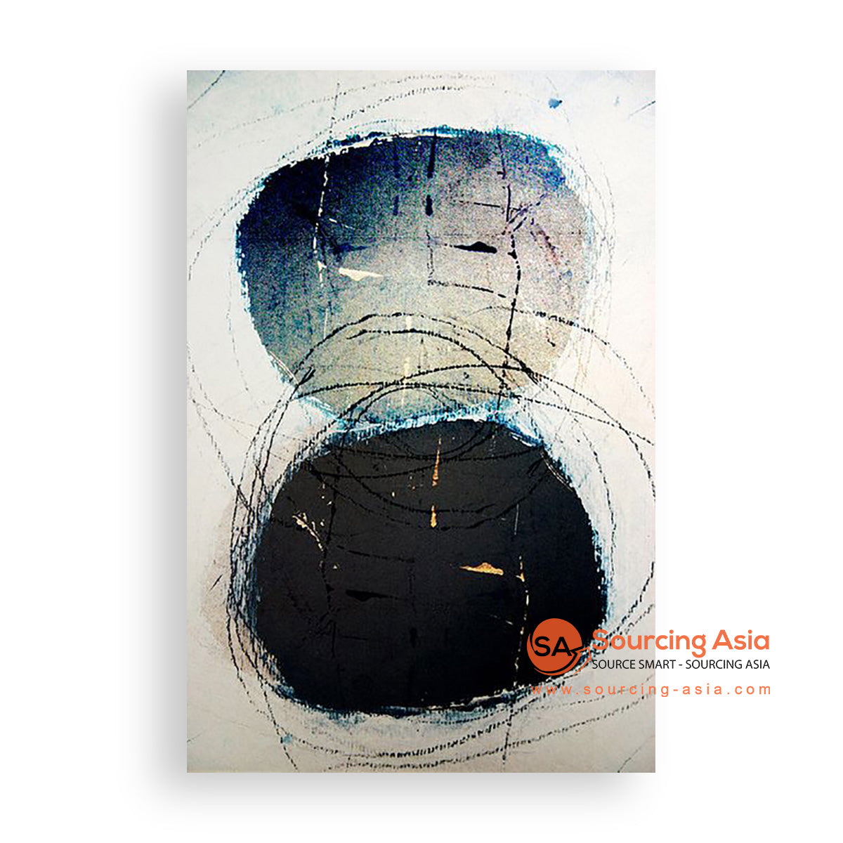 MYS240 ABSTRACT HOLES PAINTING