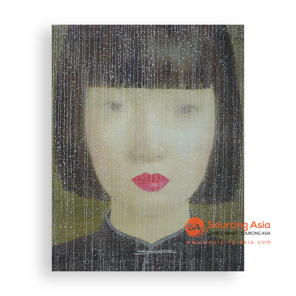 MYS295 WOMAN IN RAIN PAINTING