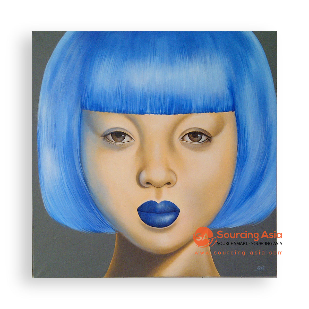 MYS300 BLUE SHORT HAIRED WOMAN