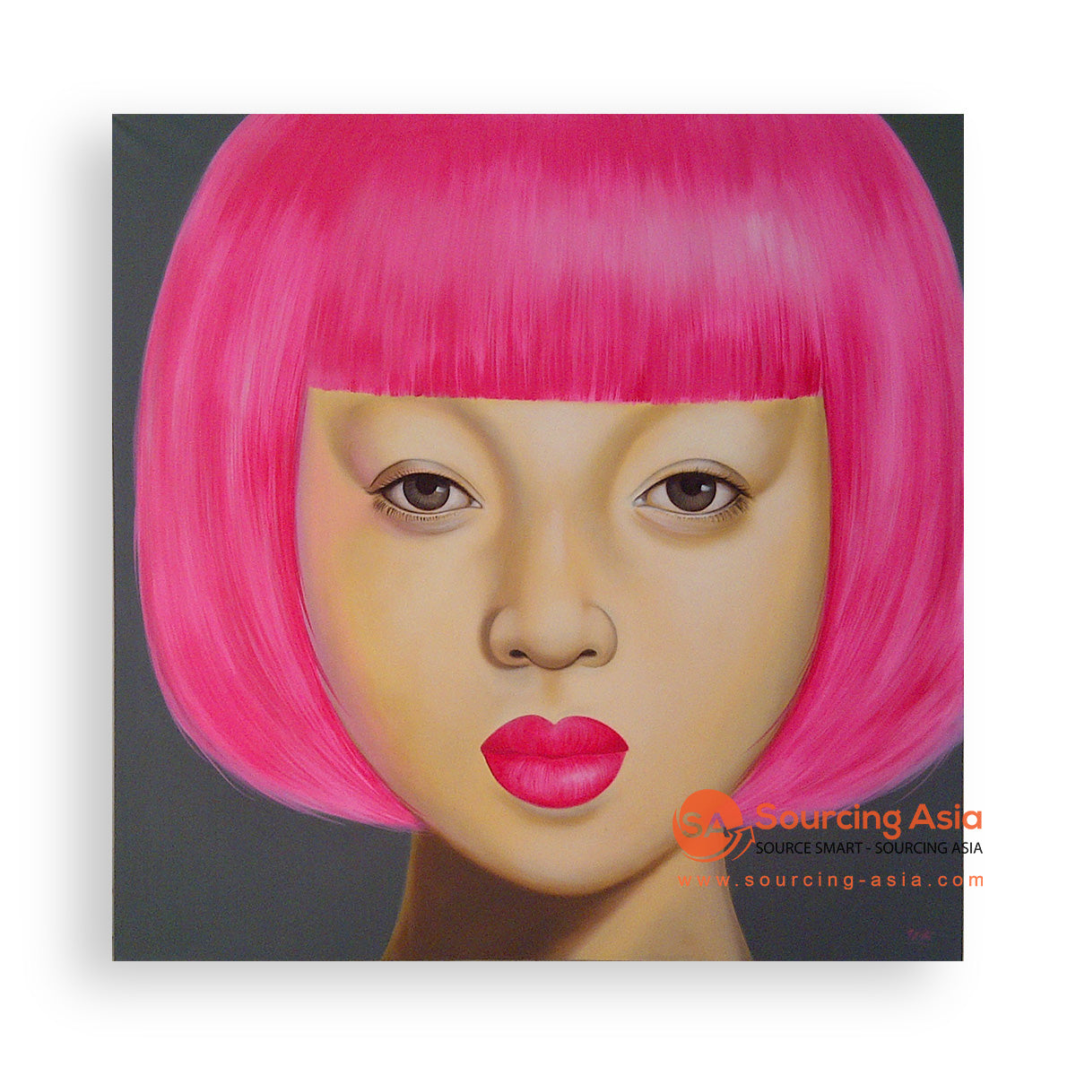 MYS301 PINK SHORT HAIRED WOMAN