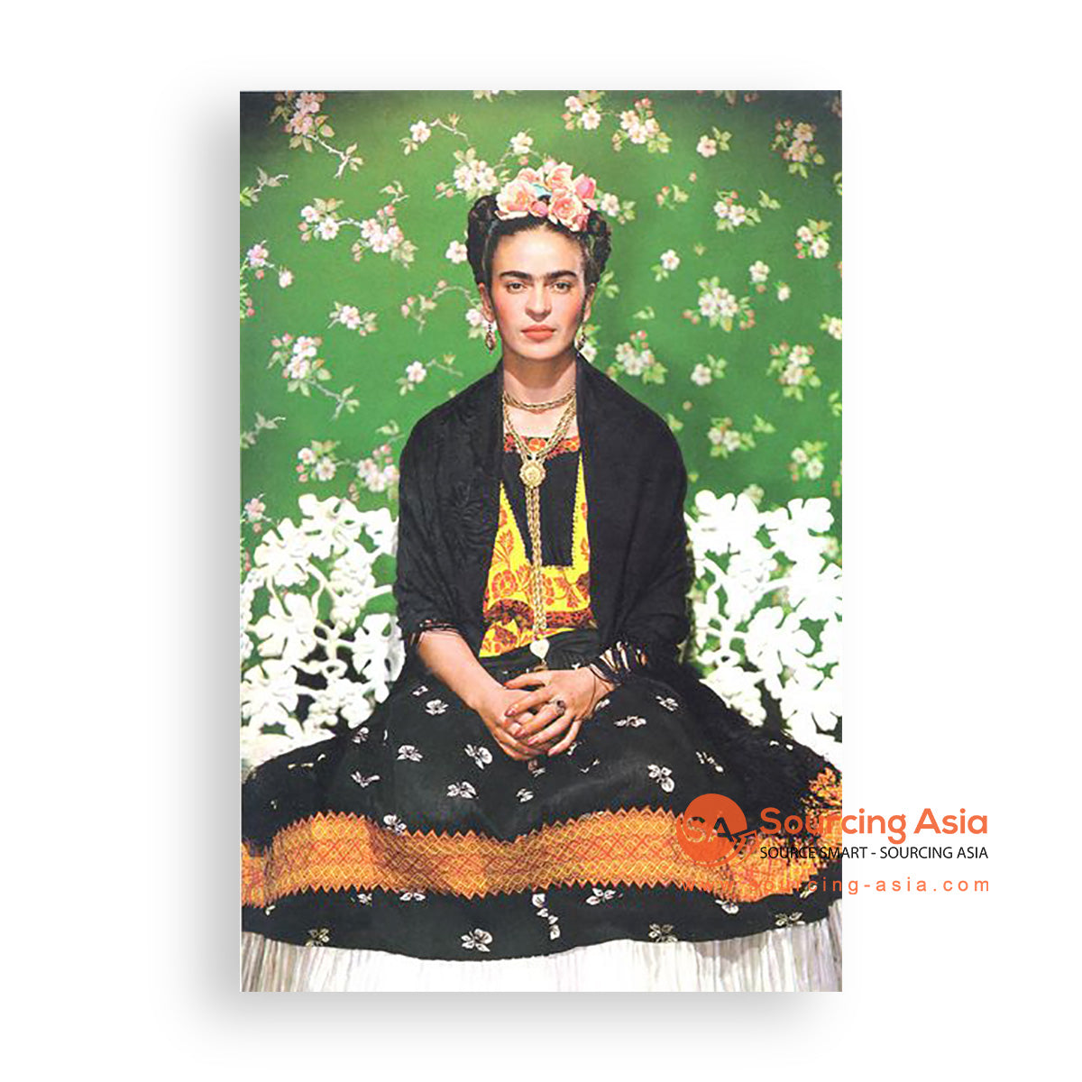 MYS361 SITTING FRIDA PAINTING