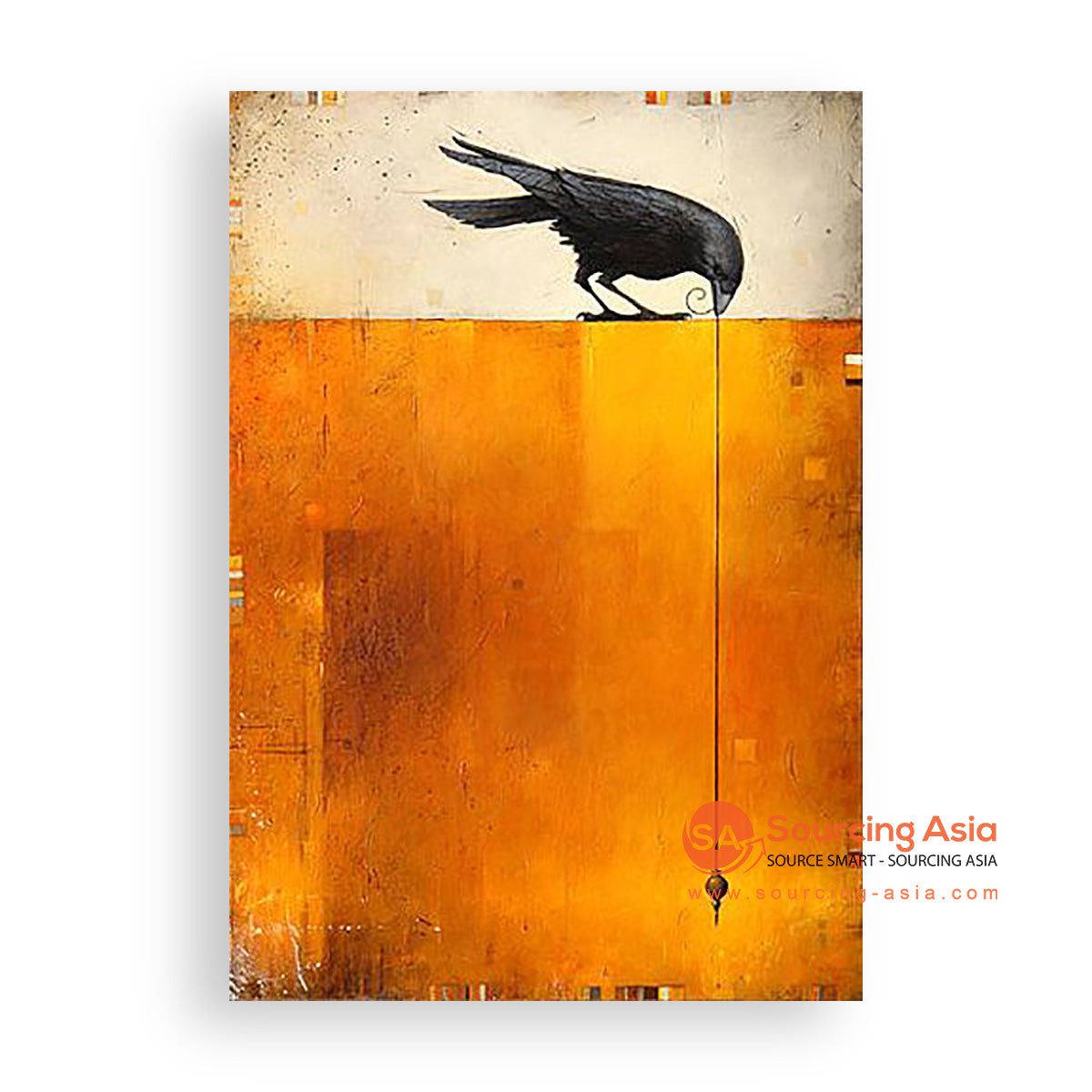 MYS390 BLACK BIRD PAINTING
