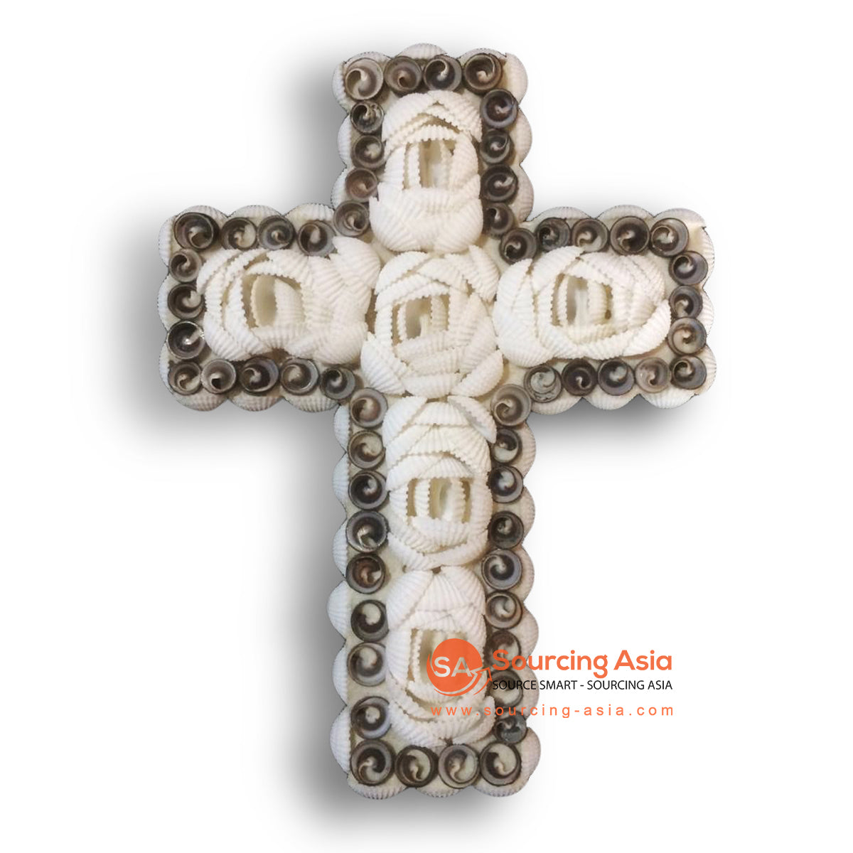 NST004 SHELL CROSS WALL HANGING