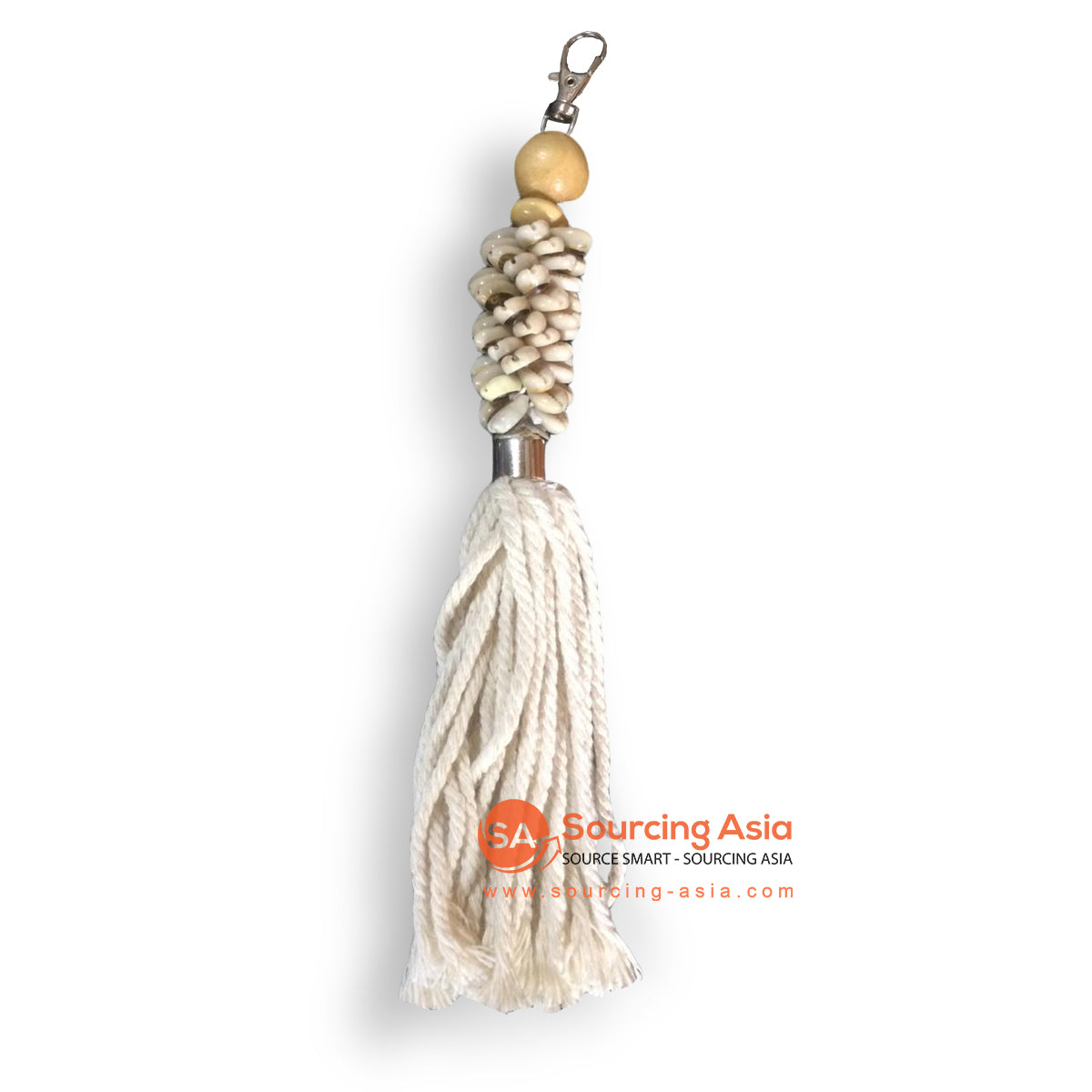 NST010 SHELL AND TASSEL KEY RING