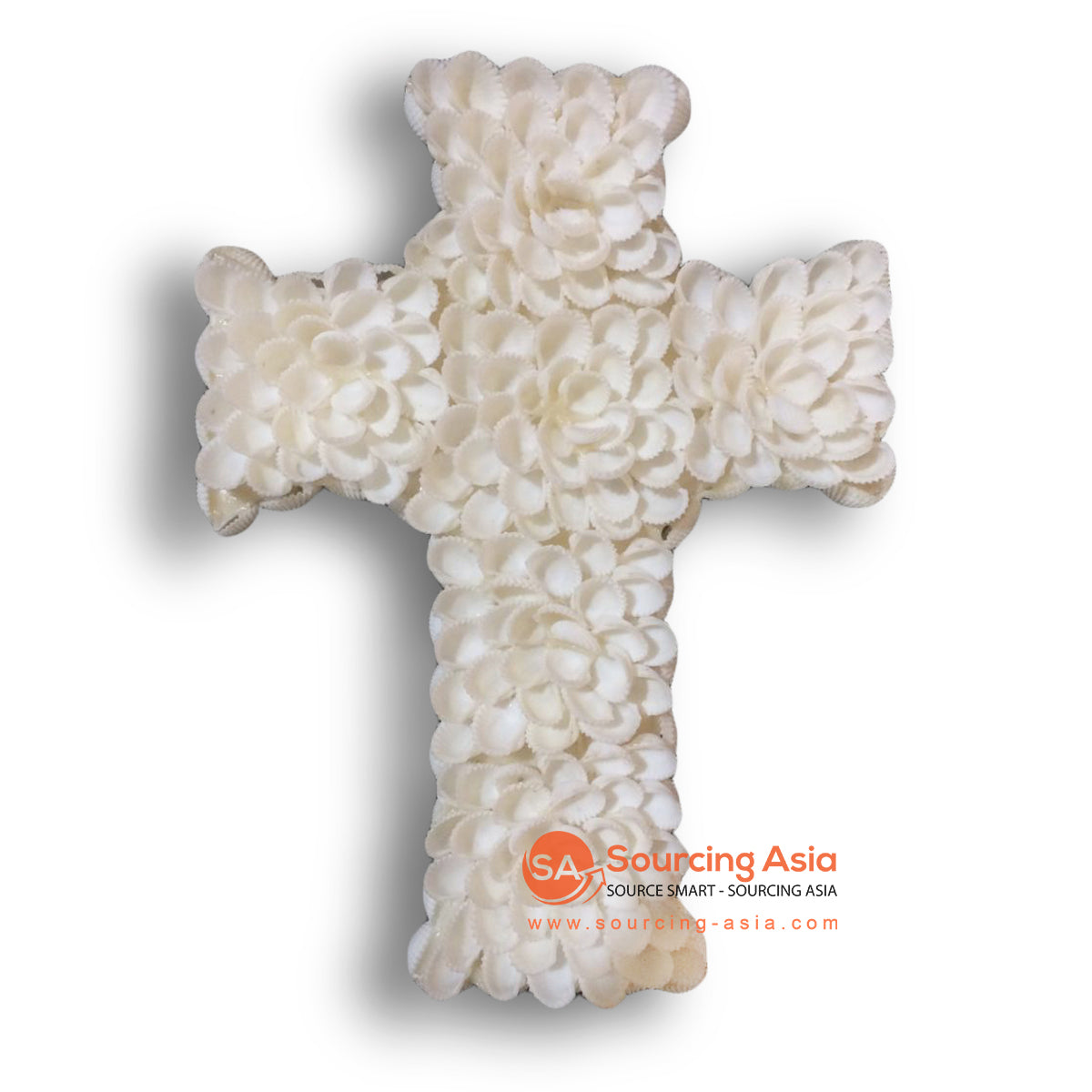 NST012 SHELL CROSS WALL HANGING