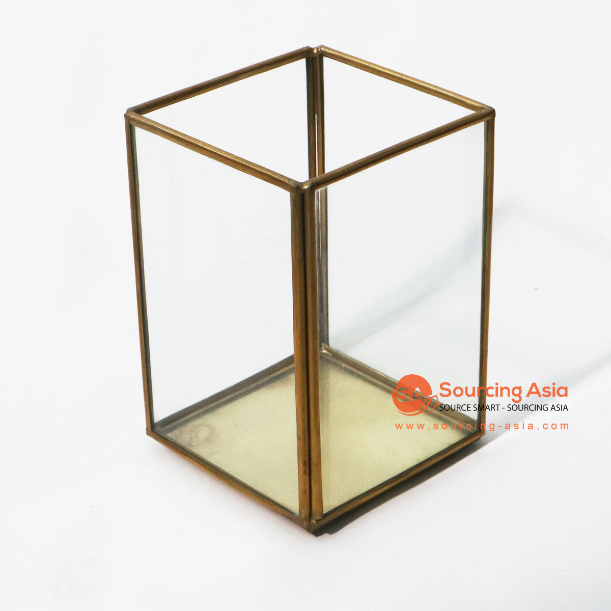 ODE040-1 BRONZE BOX CANDLE HOLDER