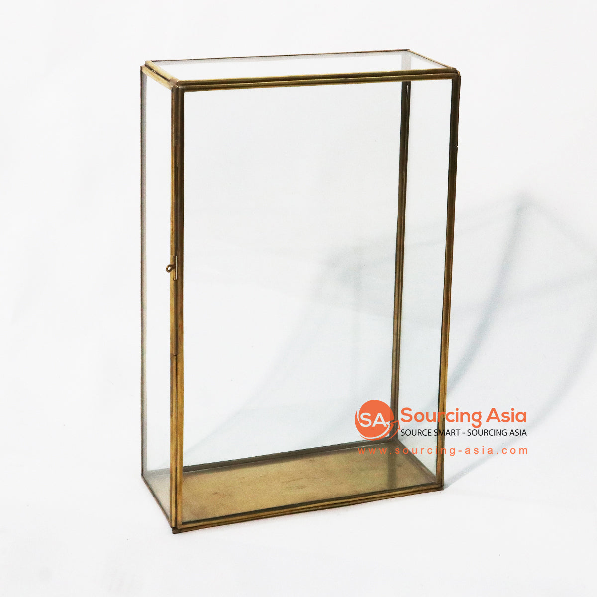 ODE057-1 BRONZE BOX CANDLE HOLDER