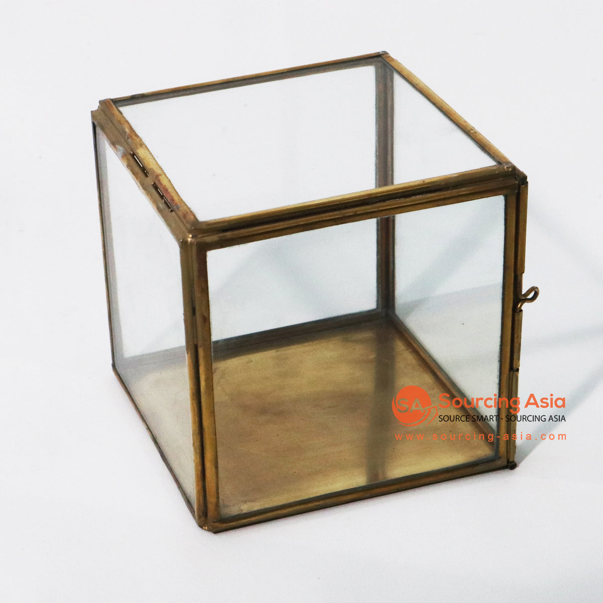 ODE057-4 BRONZE BOX CANDLE HOLDER