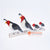 PEBC173 AIRBRUSHED PAINTED METAL LINED UP BIRDS DECORATION