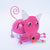 PEBC178 AIRBRUSHED PINK PAINTED METAL MOUSE DECORATION
