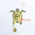 PEBC184 AIRBRUSHED PAINTED TURTLE WALL DECORATION WITH HANGING HOOK AND STAR ORNAMENT