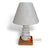 PLB003 WOOD AND RIVER PEBBLE LAMP