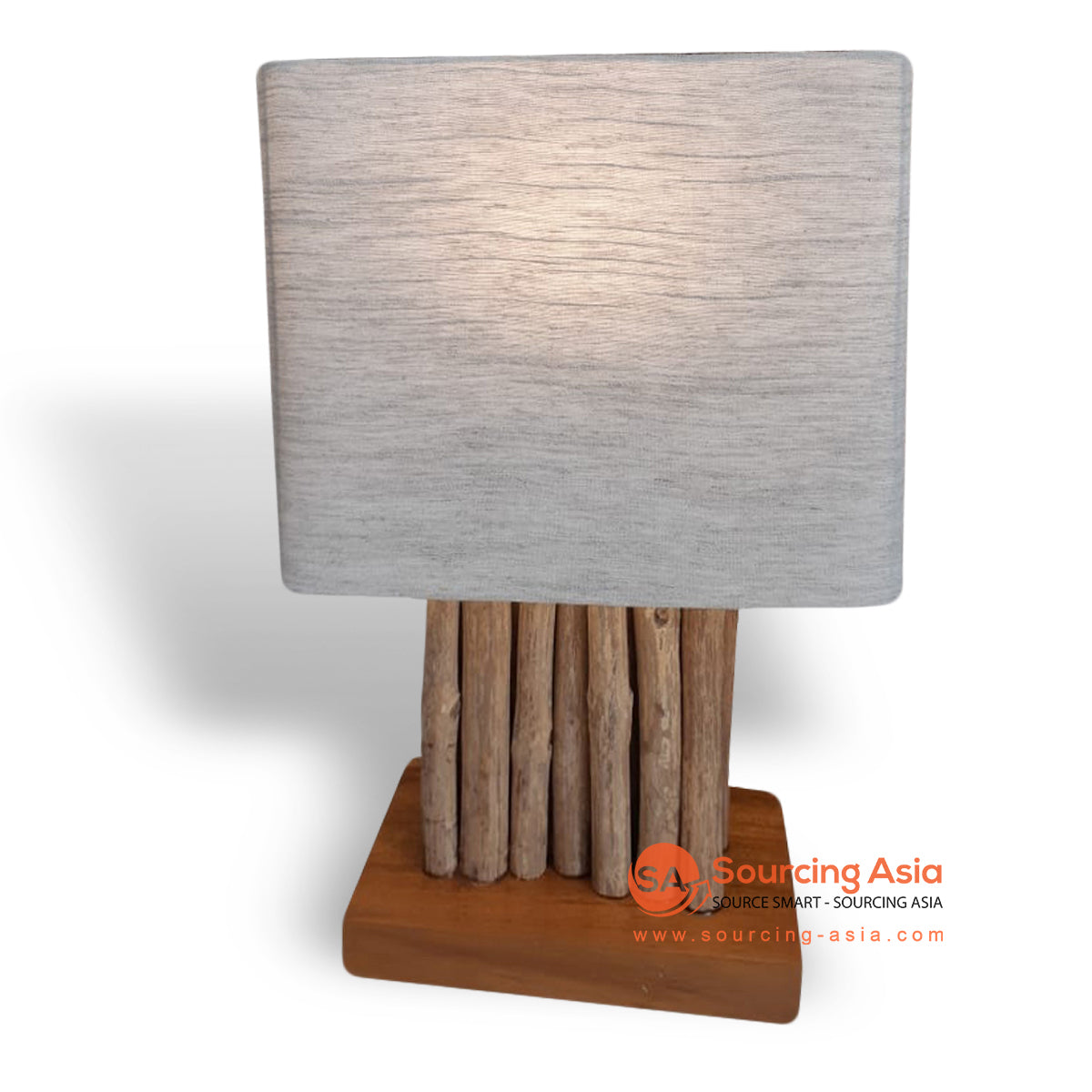 PLB004 COFFEE WOOD LAMP