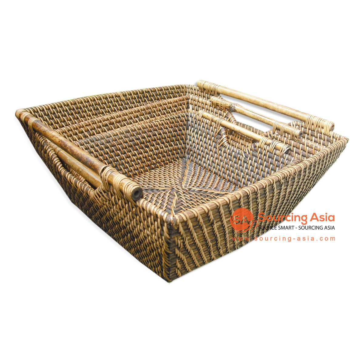 PPN071 SET OF 3 RATTAN TRAY