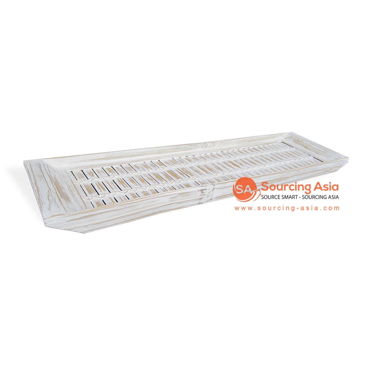RATS032 BAMBOO TRAY WHITE WASH