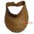 SHL044-1 BROWN PALM LEAF SN VISOR HAT