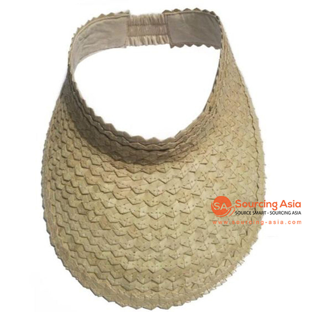 SHL044 NATURAL PALM LEAF SN VISOR HAT