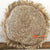 SHL049C NATURAL RAFFIA ROUND COVER CUSHION WITH FRINGE