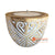 SHL060-10 WHITE WASH WOODEN TRIBAL CARVED CANDLE HOLDER WITH CANDLE