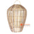 SHL062-1 NATURAL BAMBOO WOOD PENDANT LAMP