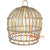 SHL062-2 NATURAL BAMBOO WOOD PENDANT LAMP