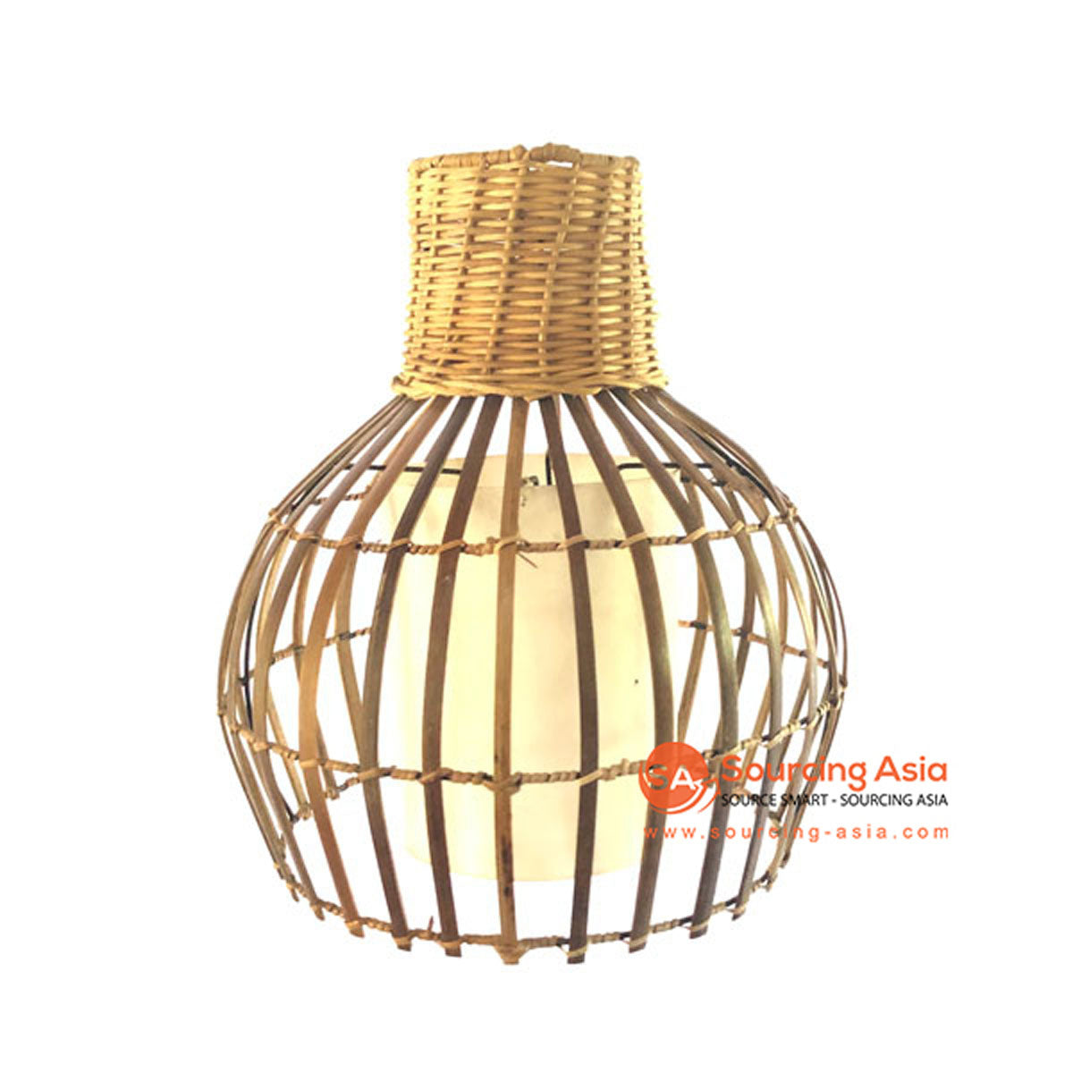 SHL062-4 NATURAL BAMBOO WOOD PENDANT LAMP