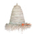 SHL063-4 NATURAL RAFFIA PENDANT LAMP WITH FRINGE