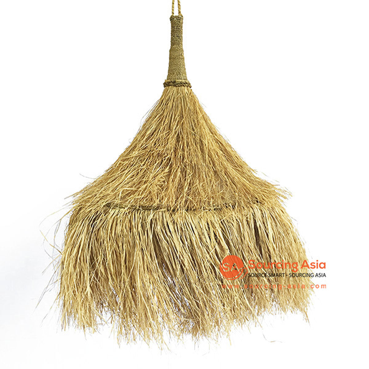 SHL063-6 NATURAL SEA GRASS PENDANT LAMP WITH FRINGE
