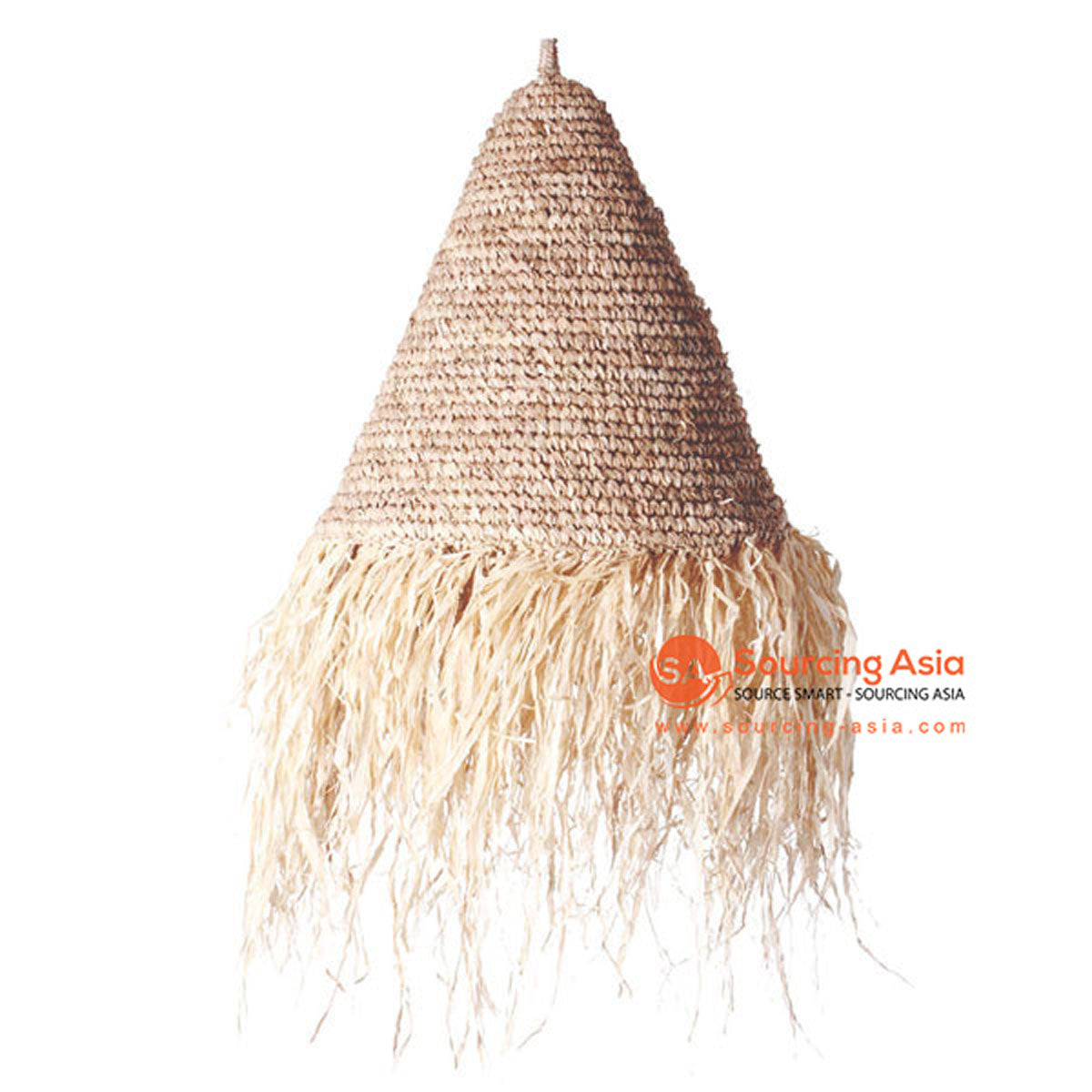 SHL063-7 NATURAL LEAF PENDANT LAMP WITH FRINGE