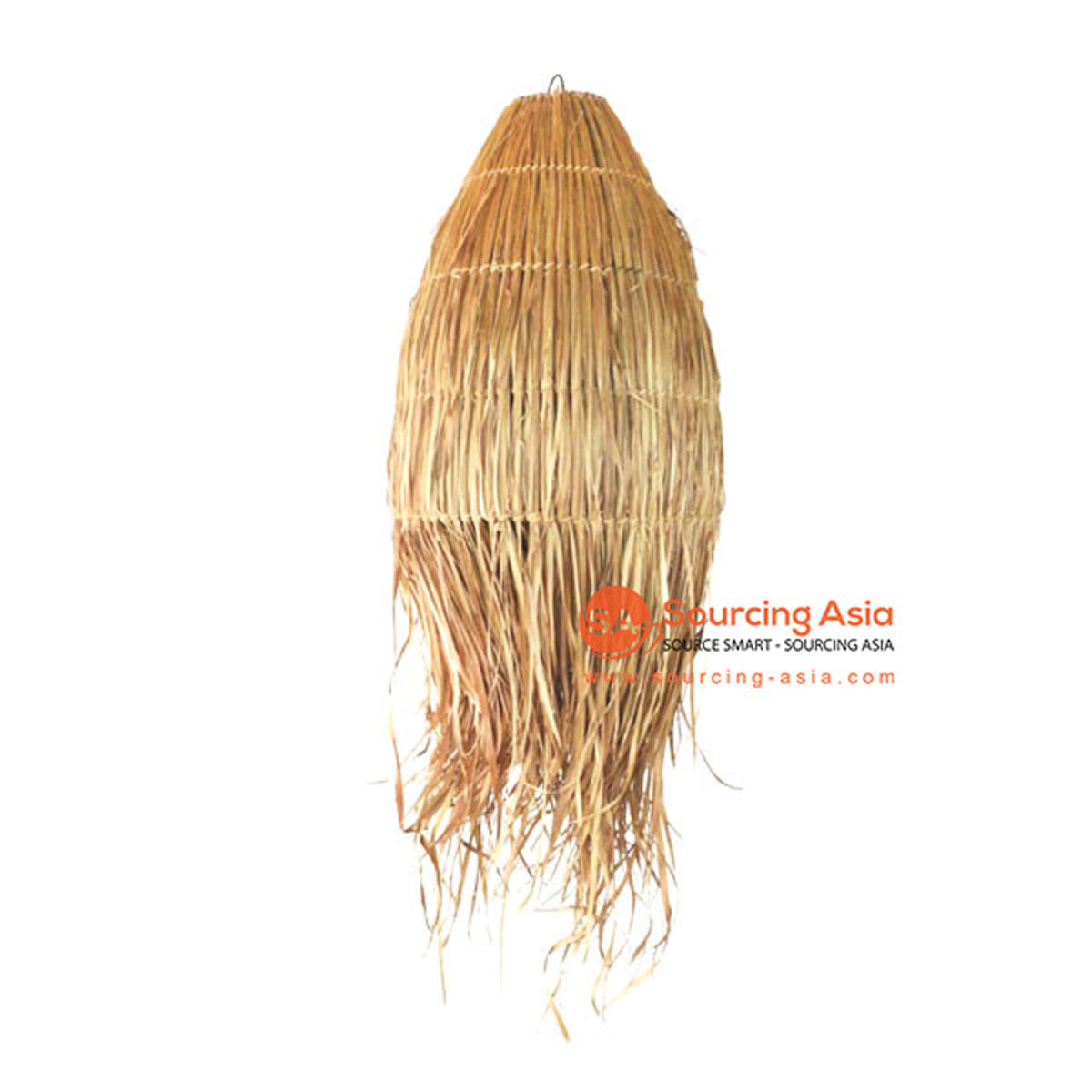 SHL063-8 NATURAL LEAF PENDANT LAMP WITH FRINGE