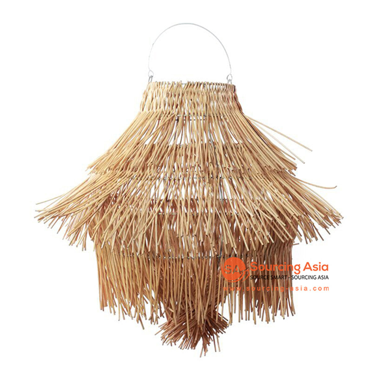 SHL064-8 NATURAL RATTAN PENDANT LAMP