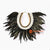 SHL068-11 BLACK FEATHER AND WHITE SHELL NECKLACE HANGING WALL DECORATION