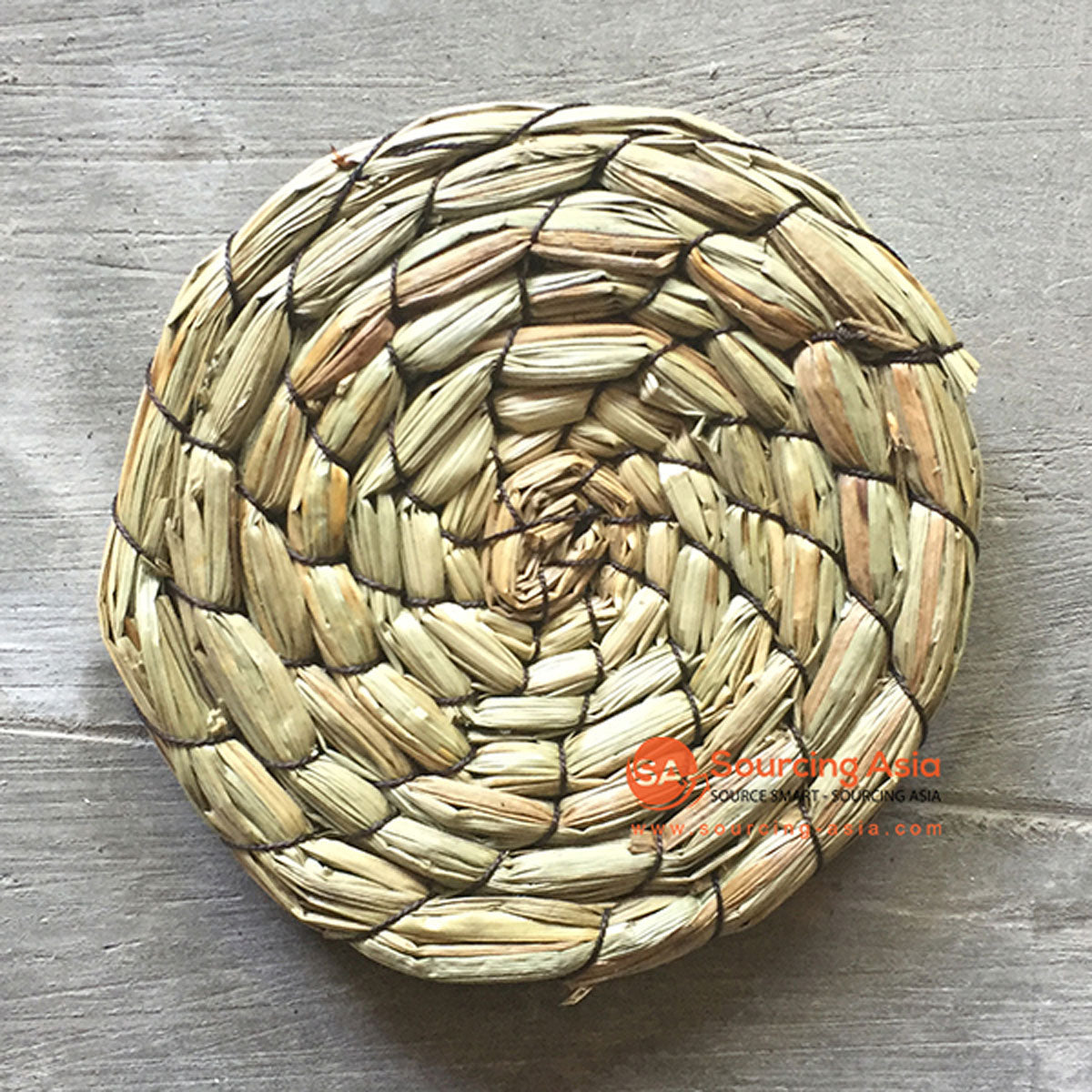 SHL070-15 NATURAL ROUND SEAGRASS COASTER