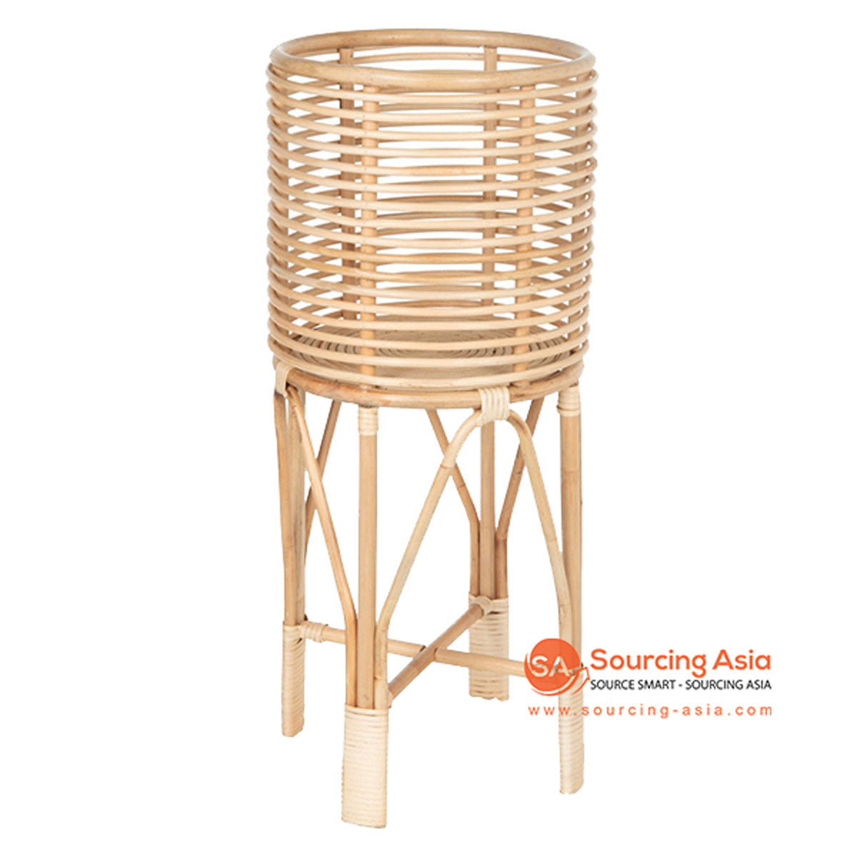 SHL088 NATURAL RATTAN ROUND PLANTER
