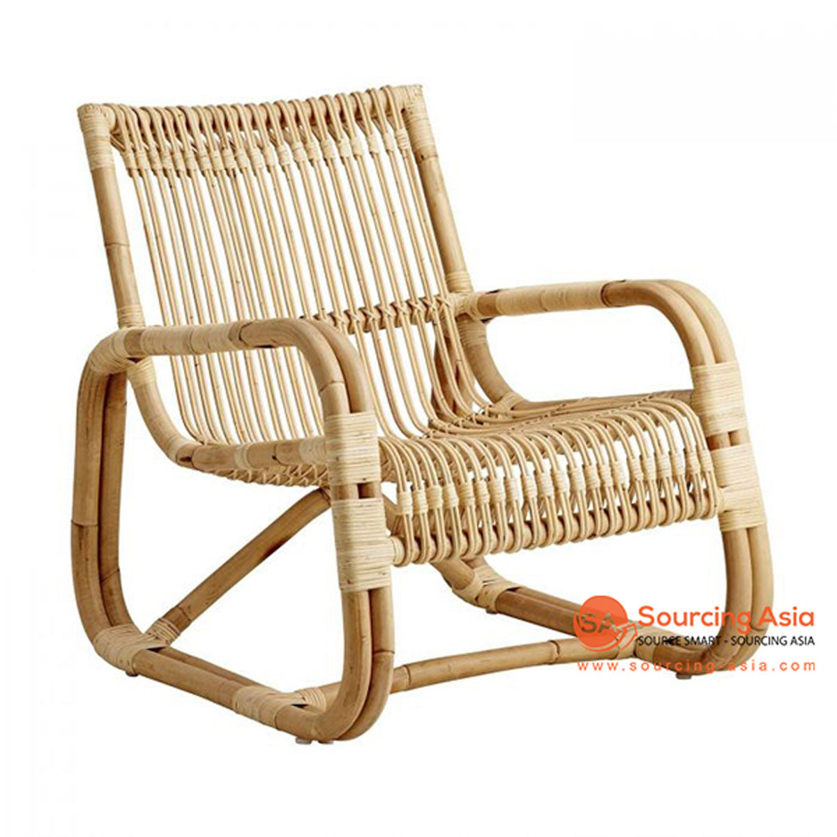 SHL111 NATURAL RATTAN UPHOLSTERED ARMCHAIR