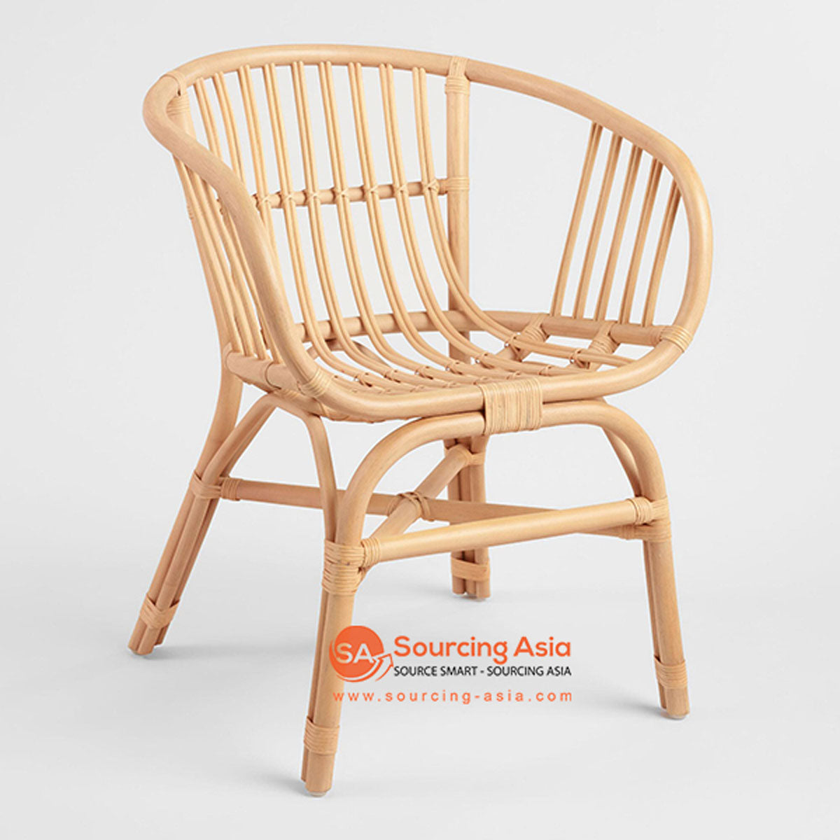 SHL112 NATURAL RATTAN UPHOLSTERED ARMCHAIR
